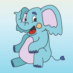 Сидящий слоненок