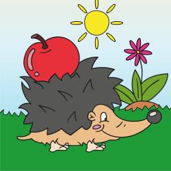 Ježek s jablkem