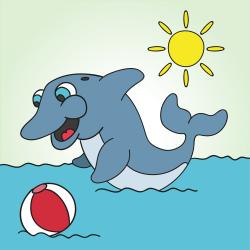 Dovádějící delfín