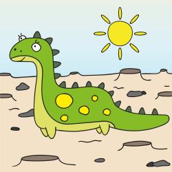 Dinossauro na planície